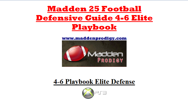 Madden 25 Elite 4-6 Defensive Playbook.